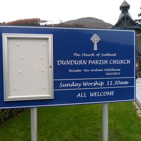 Post mounted Church sign, Church signs, church noticeboards.